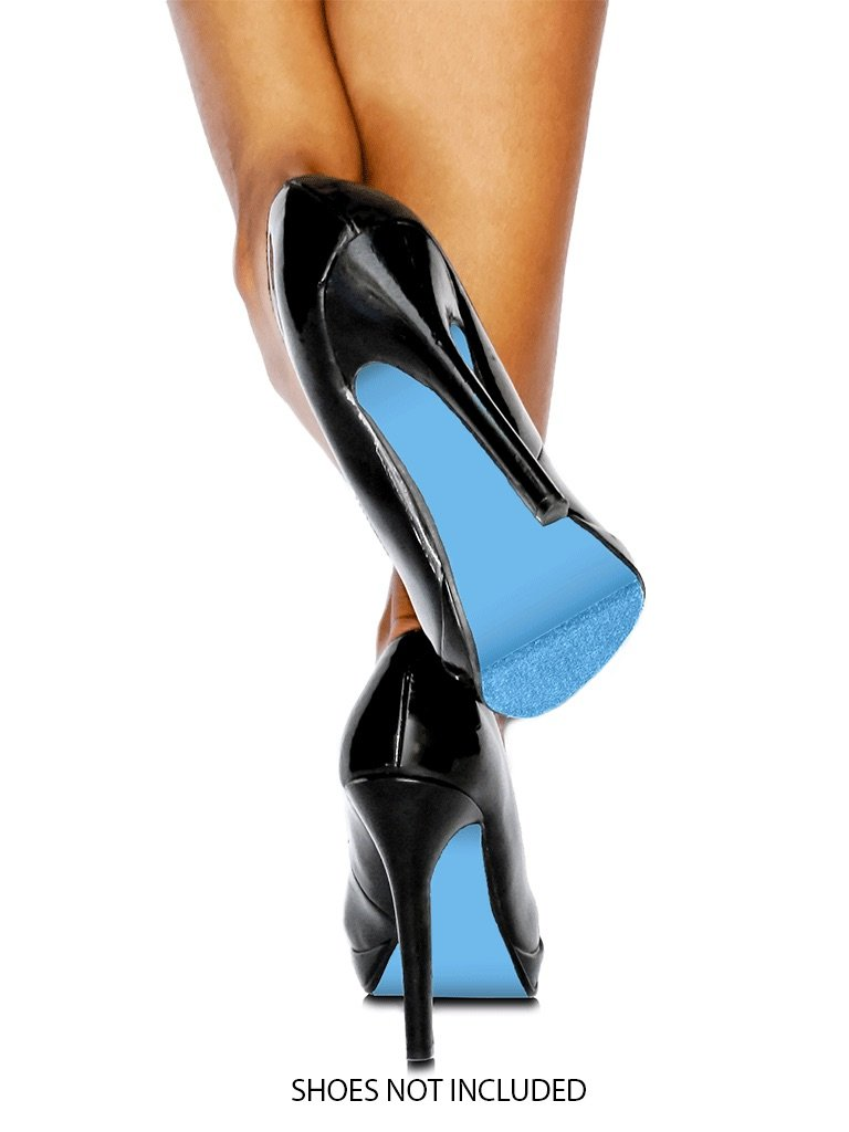 Blue Sole Kit on black high heels