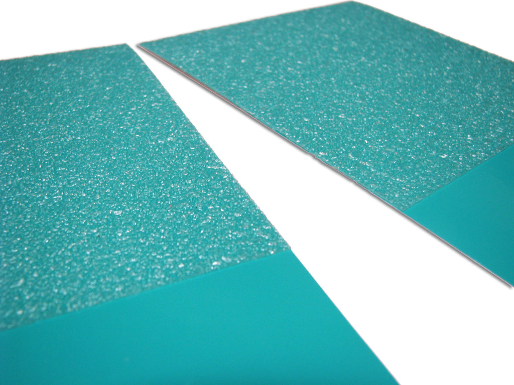 up close turquoise strips