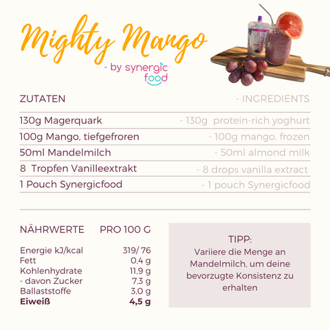 Mighty Mango Smoothie by Synergicfood Rezept.