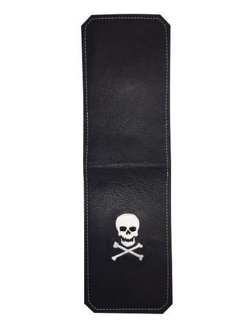 Handmade Genuine Leather Yardage Book Cover - Skull & Crossbones