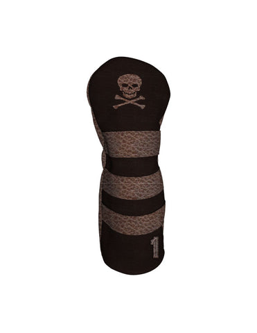 Lighthouse - Skull & Crossbones - Distressed Brown
