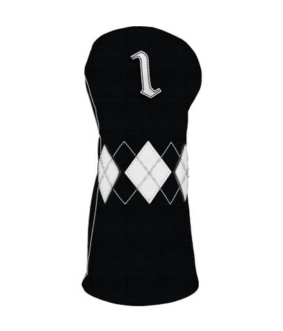 Old School -Black/White Argyle