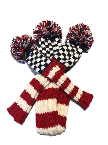 USA Patriotic Check/Stripe Throwback - Pom Pom