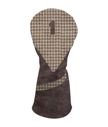 LIMITED EDITION - Distressed Brown / Brown Houndstooth