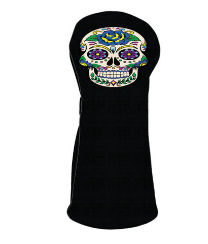 Sugar Skull - Blue Rose/Black Base