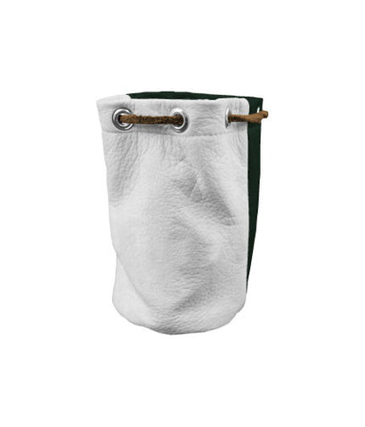 Valuable Pouch - White / Hunter Green