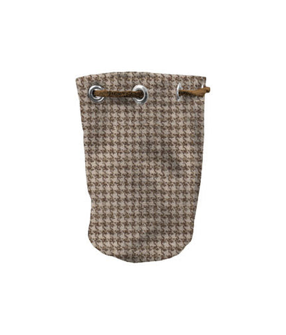 Valuable Pouch - Brown Houndstooth