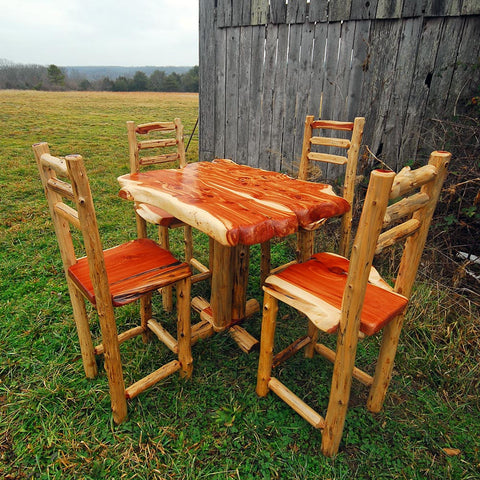 Rustic Cedar Bistro Table And Chairs Part 55