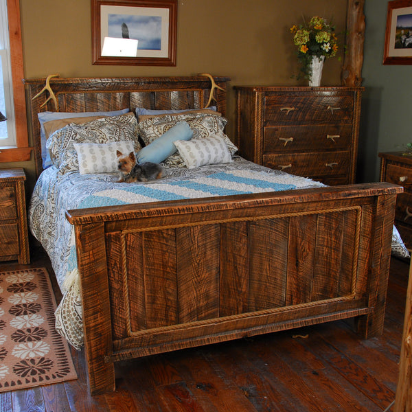 Buckboard Rough Cut Rustic Bed In King Amp Queen Size