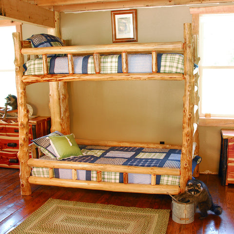 Katmai Cedar Log Bunk Bed