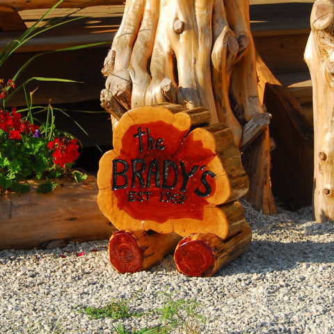 Custom Family Name Cedar Porch Sign