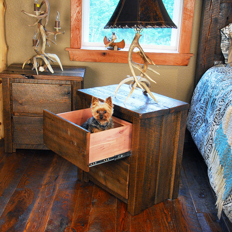 Buckboard Rough Cut Night Stand