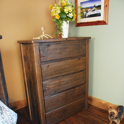 Buckboard Rough Cut Chest of Drawers