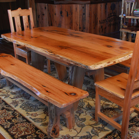 Rustic Oak Dining Set