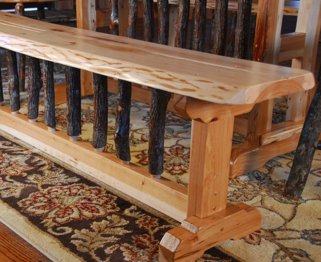 Rustic Table, Chair, And Bench Set