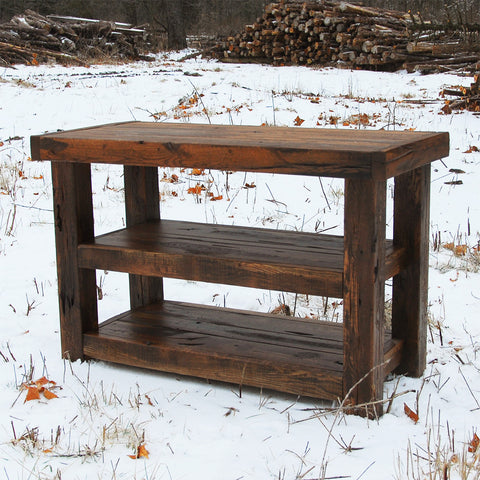Buckboard Rough Cut Sofa Table