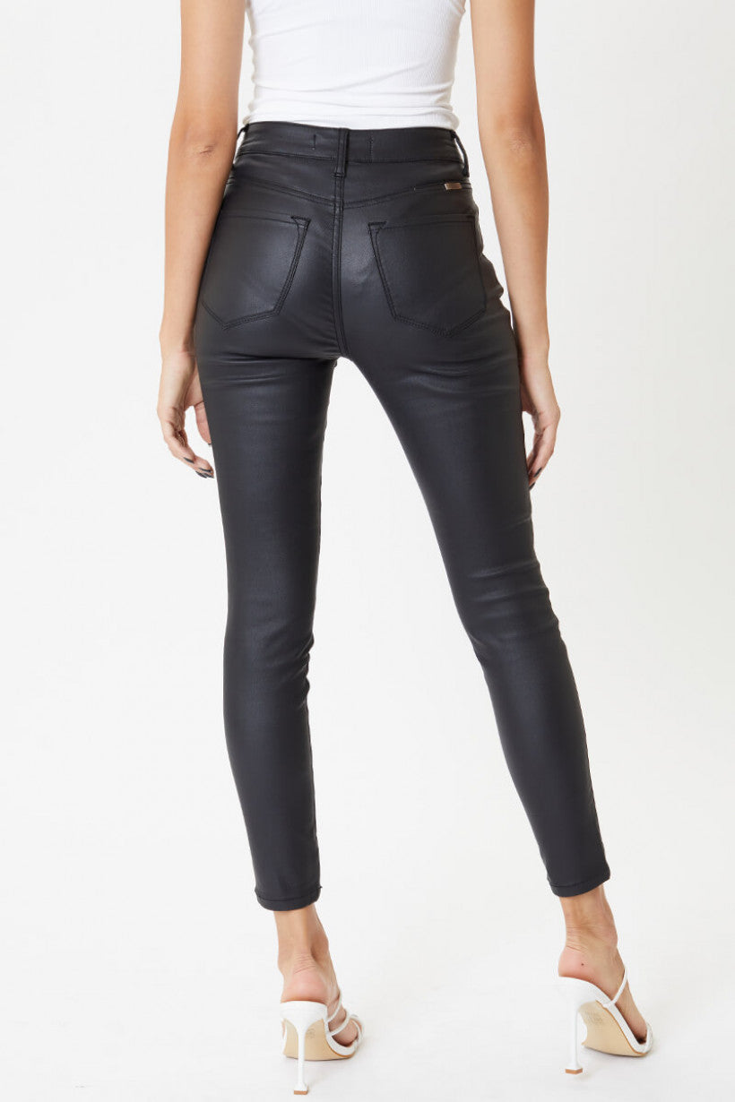 Onyx Faux Leather Skinny Jeans