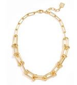 18k Gold Plated Cable Collar Necklace