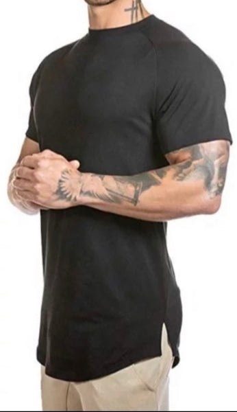 Mens Black Training Tee