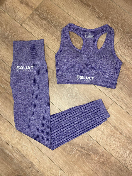Seamless Lavender Sports Bra