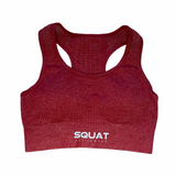 Seamless Berry Red Sports Bra