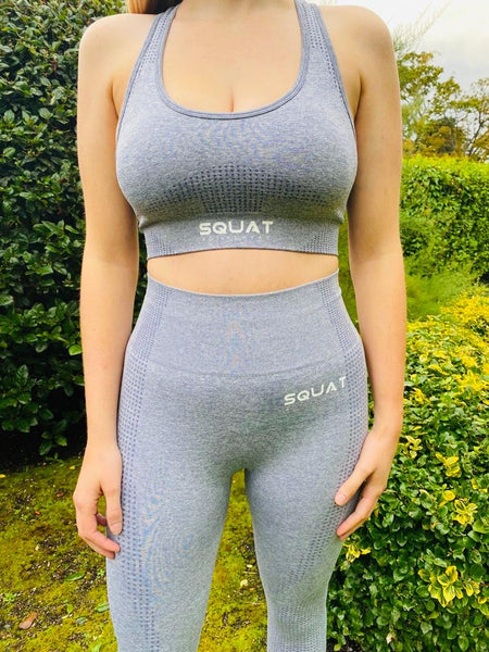 Seamless Steel Blue Sports Bra