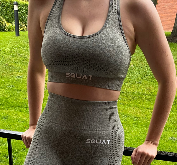 Seamless Khaki Sports Bra