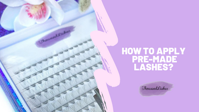 How to apply pre made lashes?