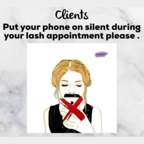 Can you use your phone while getting eyelash extensions?