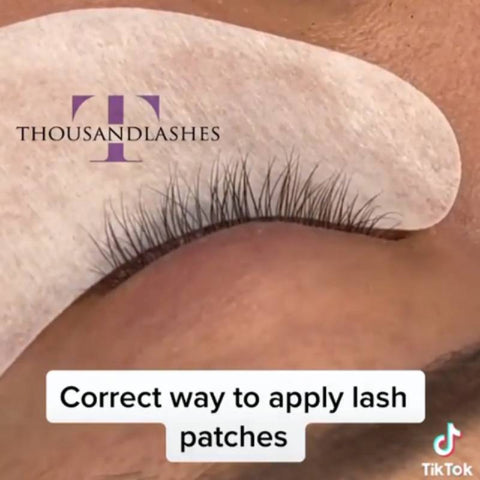 How do you apply eye patches for eyelash extensions?