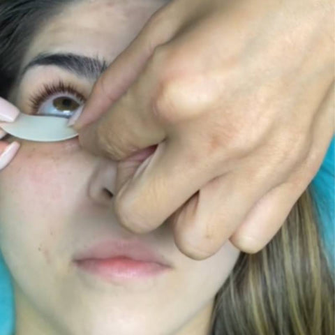 How do you apply eyelash patches?