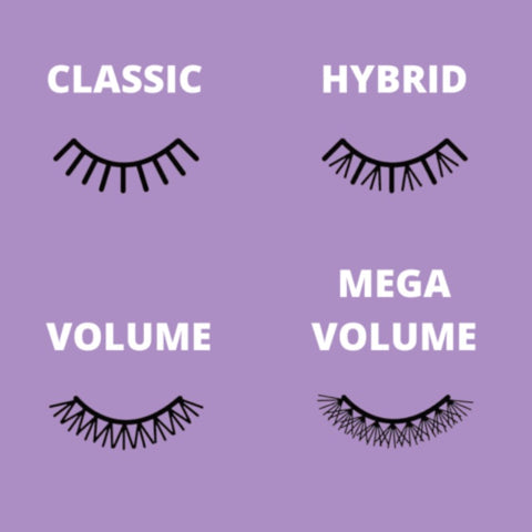 What are the different styles of eyelash extensions?