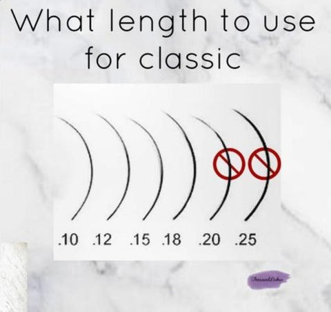 What type of lashes to use for classic eyelash extensions?