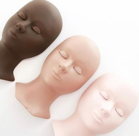 Lash Mannequin Head With Removable Eyelids