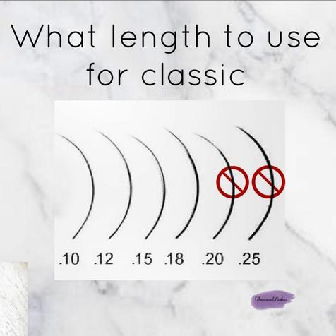 What length to use for classic lashes?