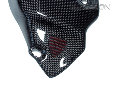 2007 - 2012 Ducati 1198 1098 848 Carbon Fiber Exhaust Cover - Red Emblem