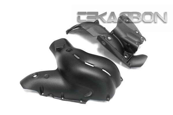 2018 Ducati Panigale V4 Carbon Fiber Exhaust Cover (Matte only)