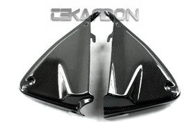 2013 - 2018 Ducati Hypermotard / Hyperstrada / 939 Carbon Fiber Inner Side Panels