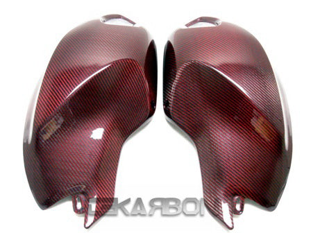 2008 - 2014 Ducati Monster 696 796 1100 Carbon Fiber Side Tank Panels