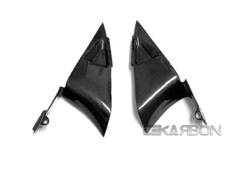 2007 - 2012 Honda CBR600RR Carbon Fiber Triangle Side Panels