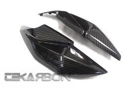 2013 - 2017 Kawasaki Ninja Z250 / 15-17 Z300 Carbon Fiber Headlight Side Panels