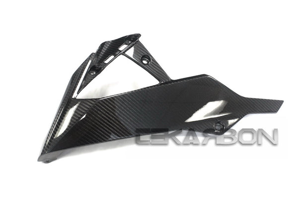 2013 - 2017 Kawasaki Ninja Z250 / 15-17 Z300 Carbon Fiber Lower Side Fairings
