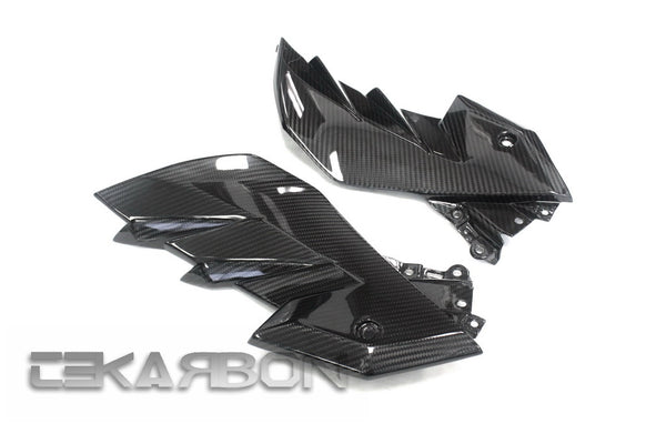 2013 - 2017 Kawasaki Ninja Z250 / 15-17 Z300 Carbon Fiber Side Fairing Panels