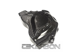 2011 - 2015 Kawasaki ZX10R Carbon Fiber Sprocket Cover - Twill