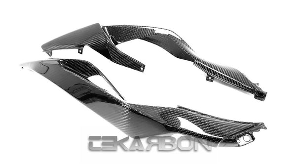 2019 - 2021 Kawasaki ZX6R Carbon Fiber Tail Side Fairings