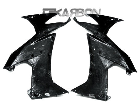 2008 - 2009 Kawasaki ZX10R Carbon Fiber Large Side Fairings