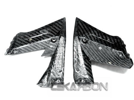 2008 - 2009 Kawasaki ZX10R Carbon Fiber Side Fairing Panels