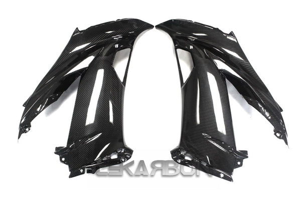 2013 - 2016 Kawasaki ZX6R Carbon Fiber Large Side Fairings