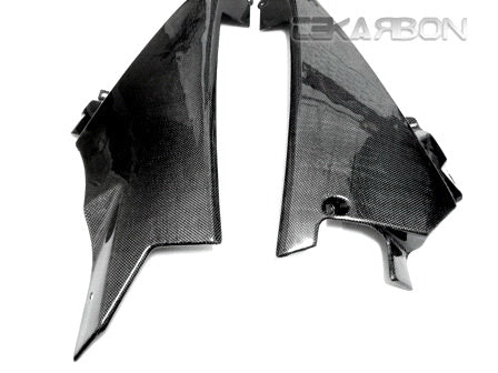 2007 - 2008 Suzuki GSXR 1000 Carbon Fiber Lower Side Fairings (Plain Weave)