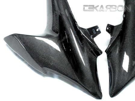 2009 - 2015 Suzuki GSXR 1000 Carbon Fiber Front Side Fairings (Plain)
